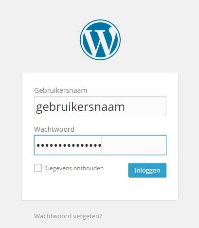 Inloggen op je WordPress dashboard (CMS).