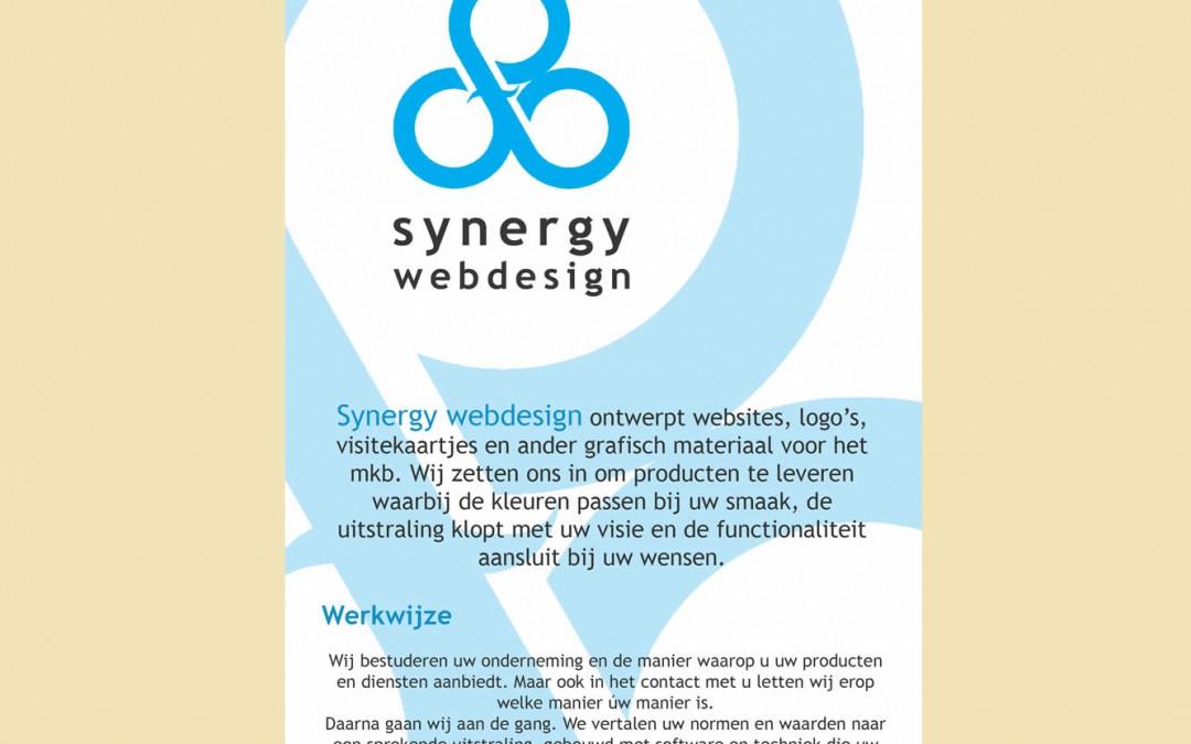 Synergy Webdesign – flyer ontwerp (ongedrukt)