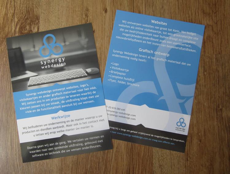 Synergy Webdesign – flyer ontwerp