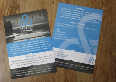 Synergy Webdesign - flyer ontwerp